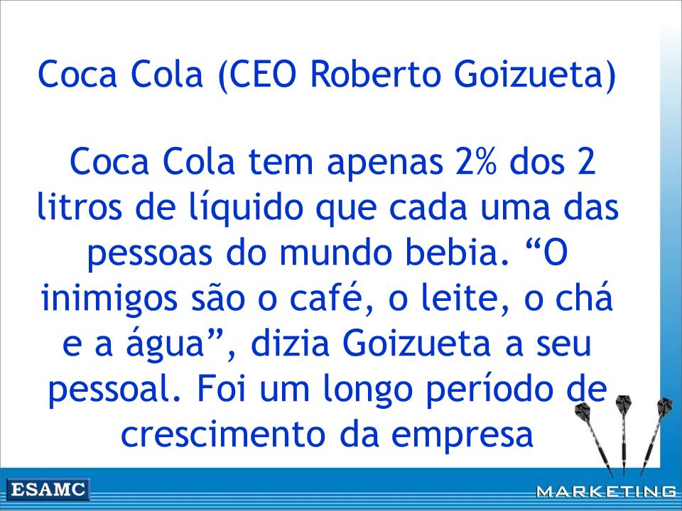 Coca Cola (CEO Roberto Goizueta)