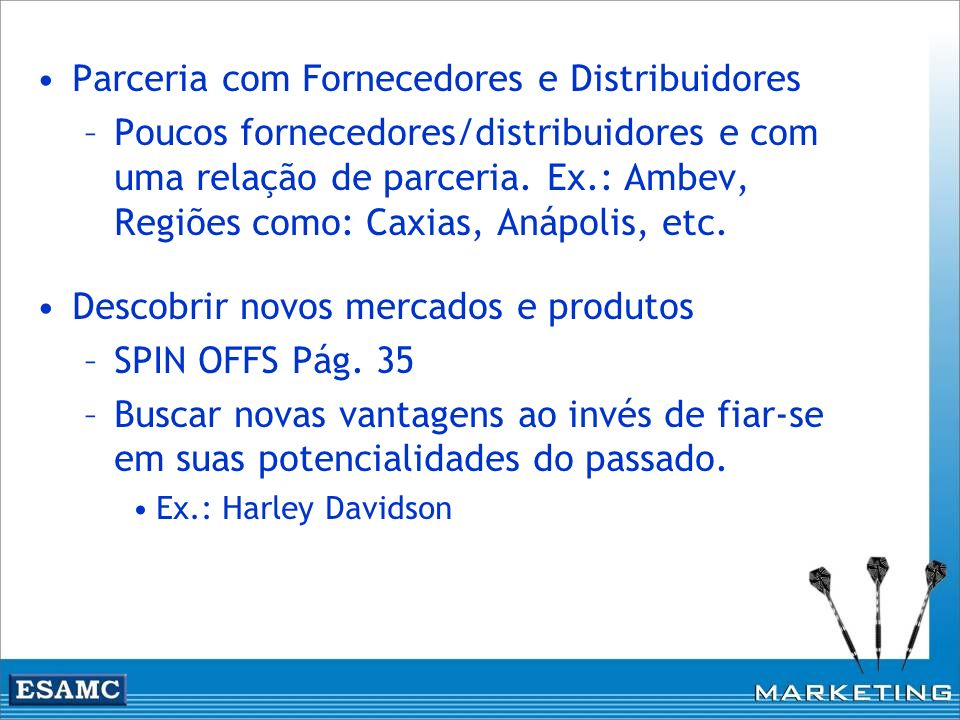 Parceria com Fornecedores e Distribuidores