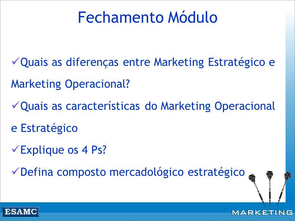 Fechamento Módulo Quais as diferenças entre Marketing Estratégico e Marketing Operacional