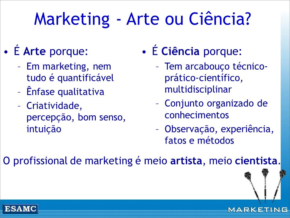 Marketing - Arte ou Ciência