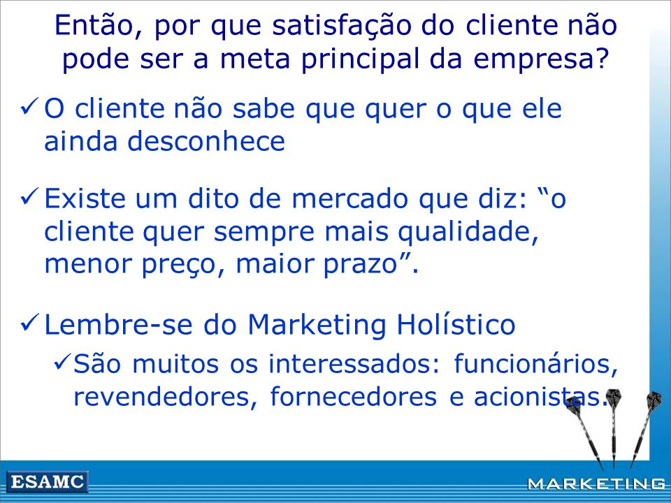 Lembre-se do Marketing Holístico