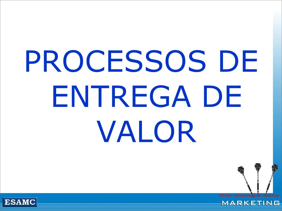 PROCESSOS DE ENTREGA DE VALOR