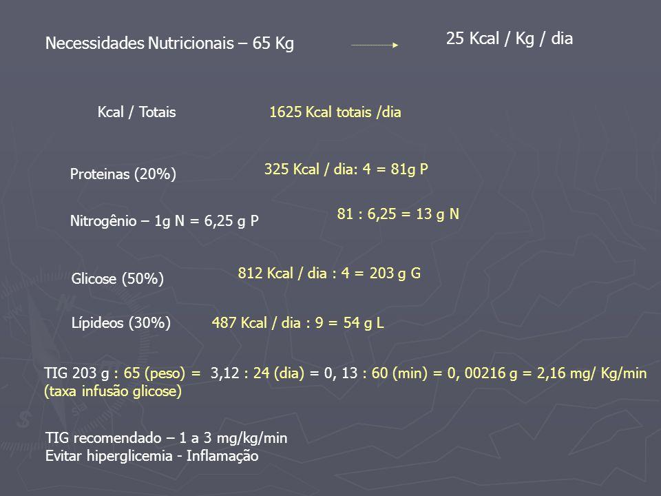Necessidades Nutricionais – 65 Kg