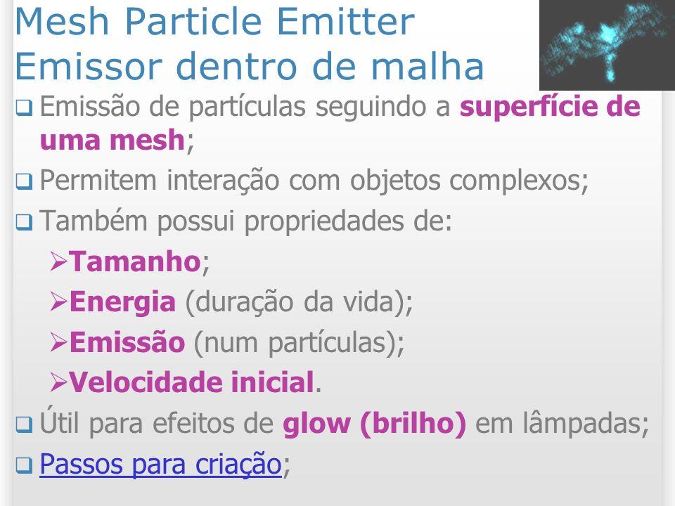Mesh Particle Emitter Emissor dentro de malha