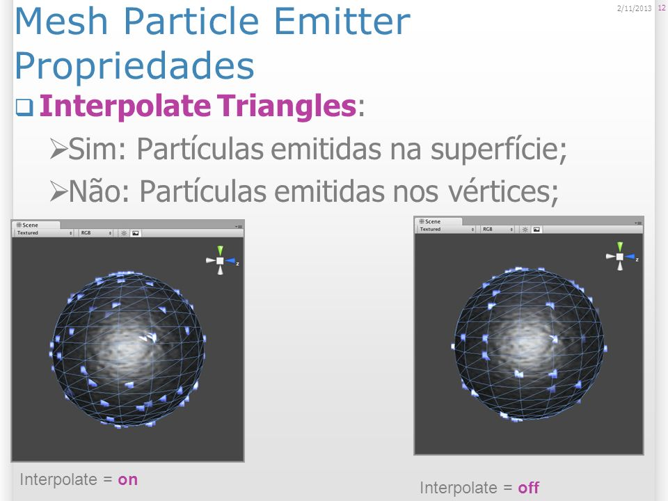 Mesh Particle Emitter Propriedades