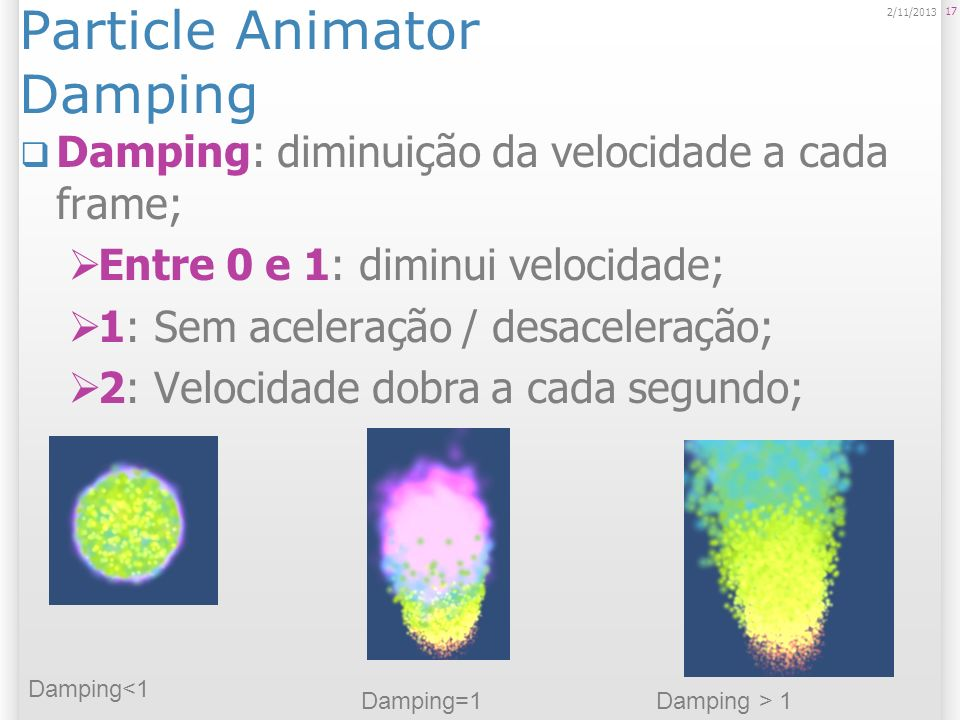 Particle Animator Damping