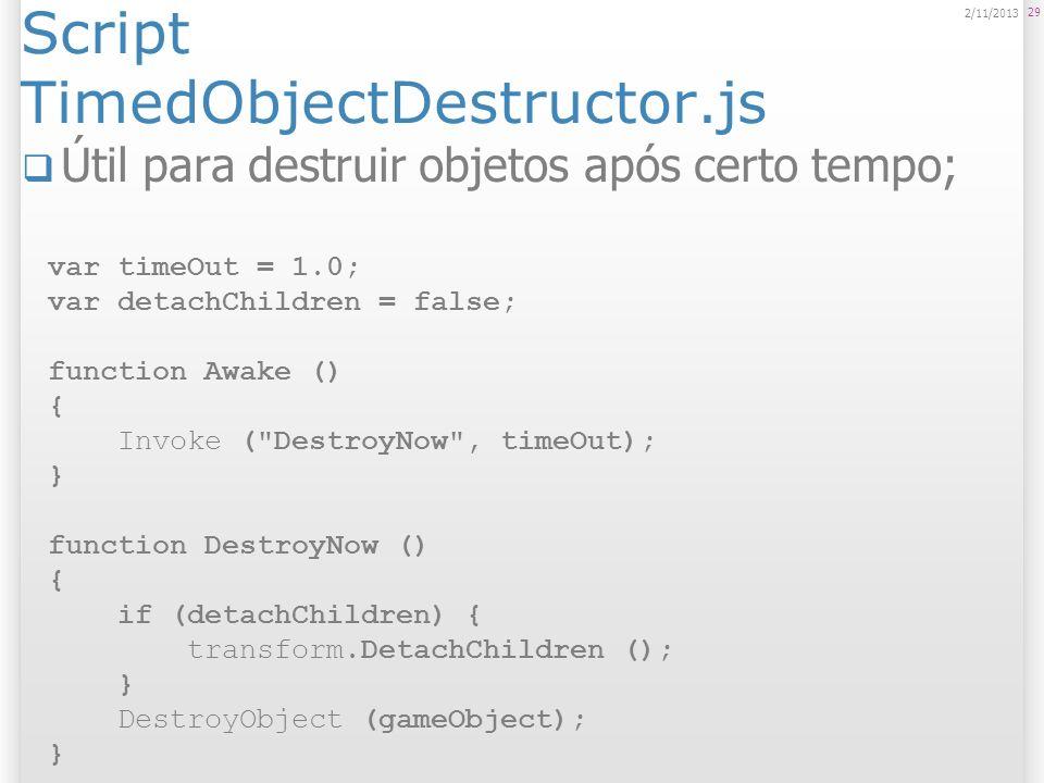 Script TimedObjectDestructor.js