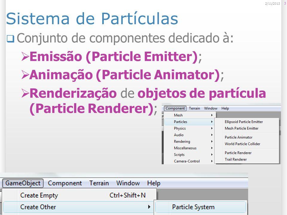 Sistema de Partículas Conjunto de componentes dedicado à: