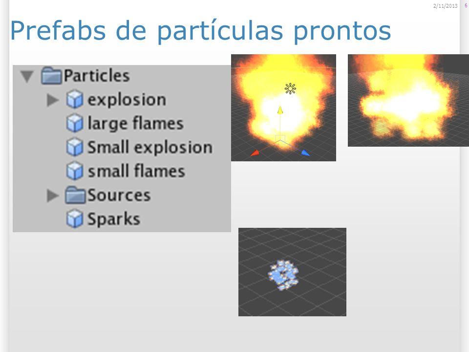 Prefabs de partículas prontos
