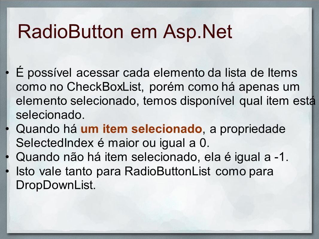RadioButton em Asp.Net