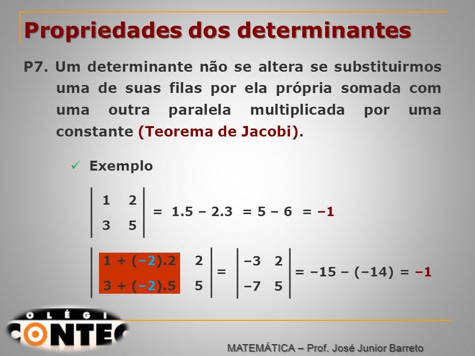 Propriedades dos determinantes