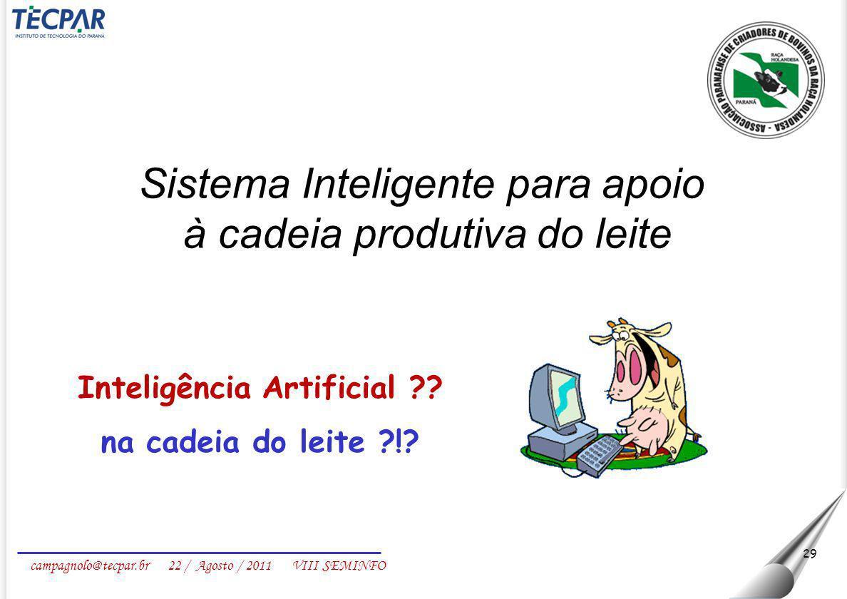 Inteligência Artificial na cadeia do leite !
