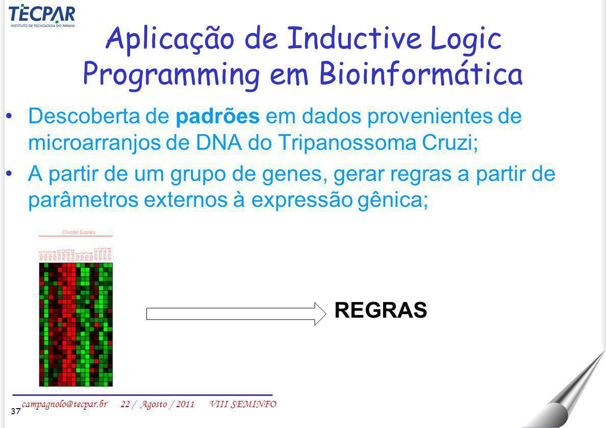 Aplicação de Inductive Logic Programming em Bioinformática