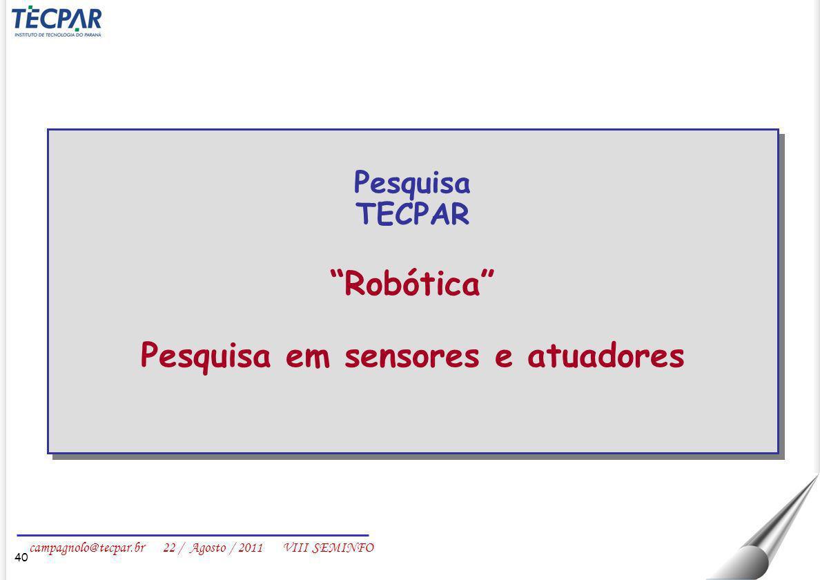 Pesquisa em sensores e atuadores