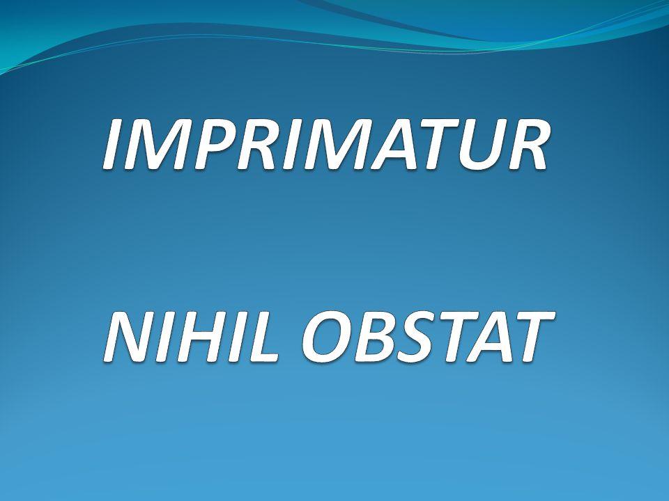 IMPRIMATUR NIHIL OBSTAT