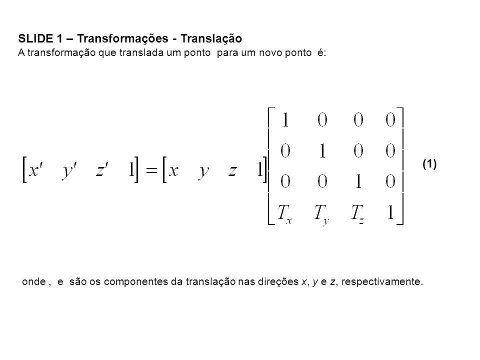 SLIDE 1 – Transformações - Translação