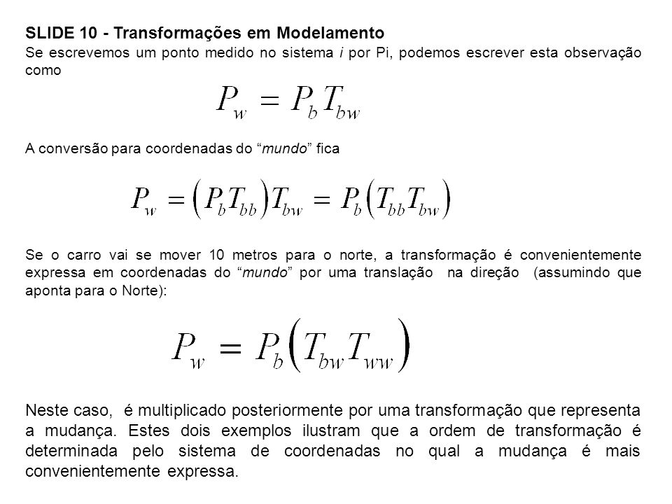 SLIDE 10 - Transformações em Modelamento
