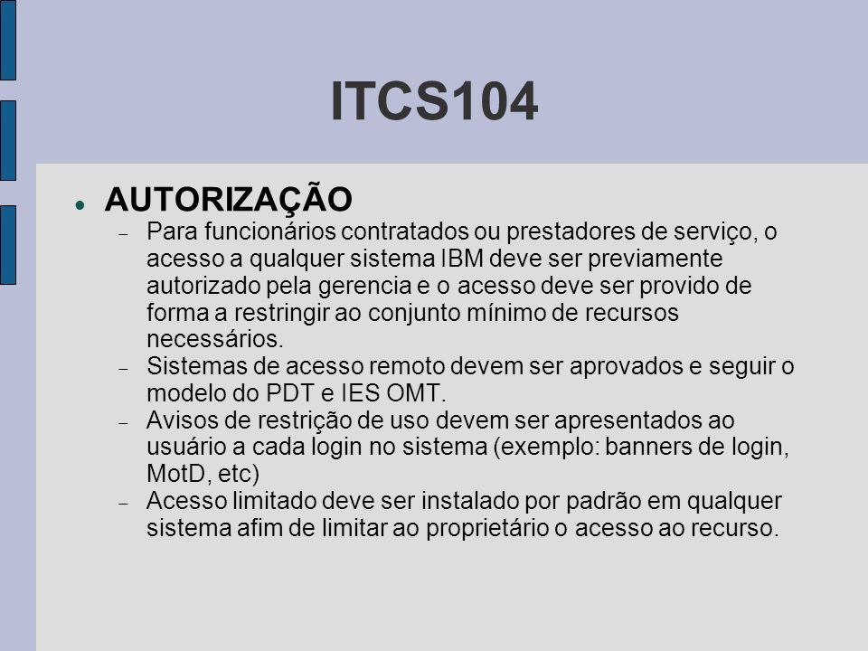 ITCS104 AUTORIZAÇÃO.