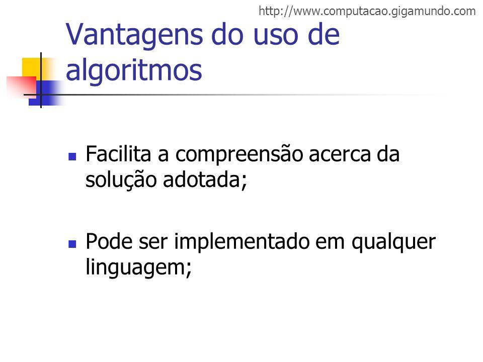 Vantagens do uso de algoritmos