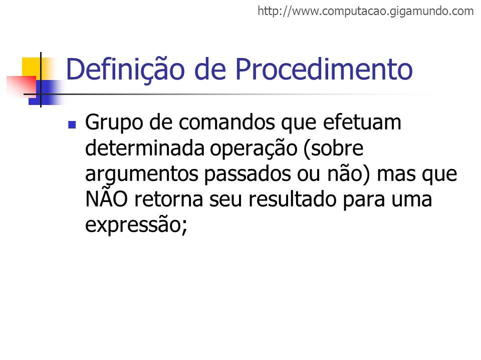 Definição de Procedimento