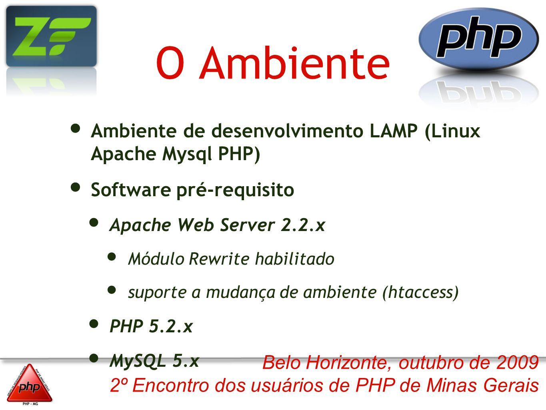 O Ambiente Ambiente de desenvolvimento LAMP (Linux Apache Mysql PHP)