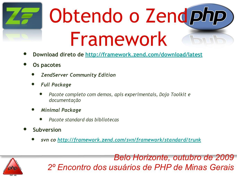 Obtendo o Zend Framework