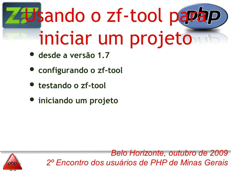 Usando o zf-tool para iniciar um projeto