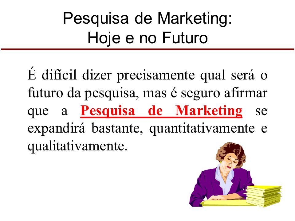 Pesquisa de Marketing: Hoje e no Futuro