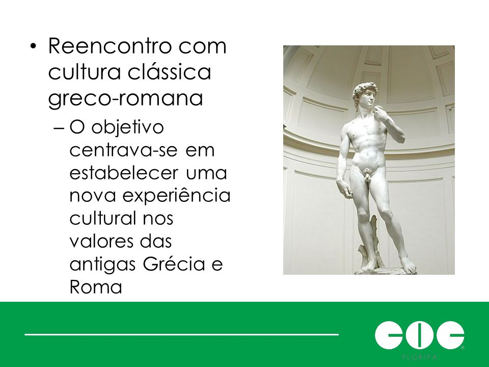 Renascer: mas o quê Reencontro com cultura clássica greco-romana