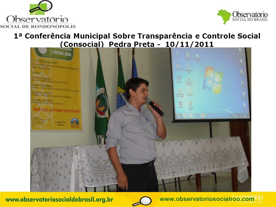 1ª Conferência Municipal Sobre Transparência e Controle Social