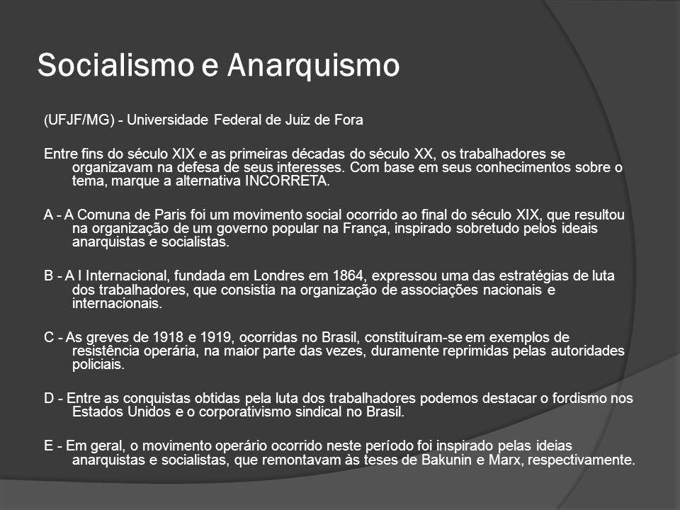 Socialismo e Anarquismo