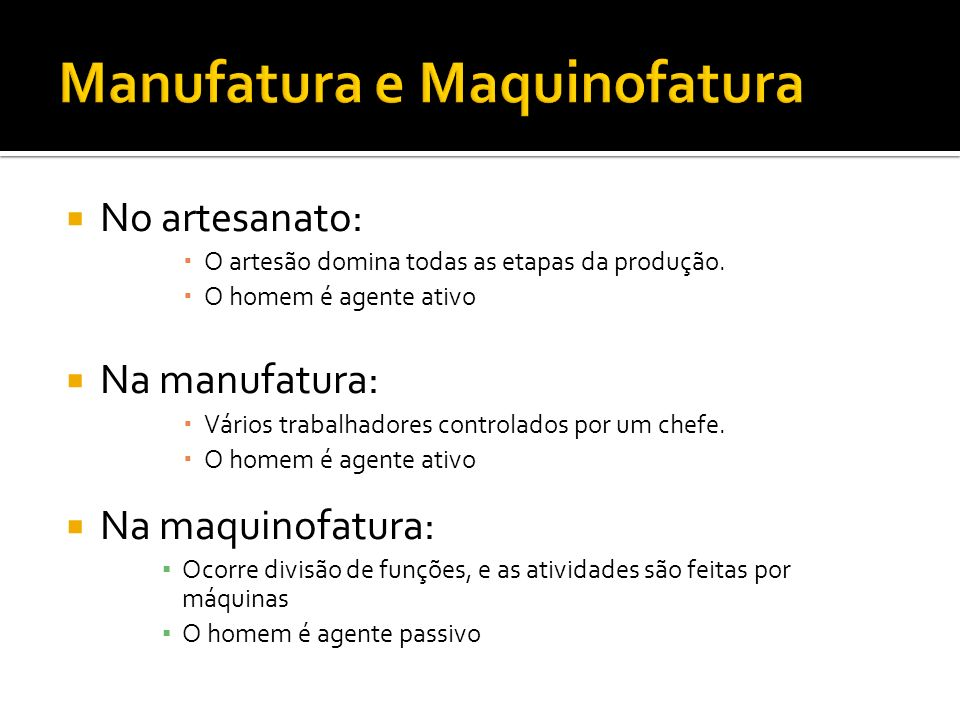 Manufatura e Maquinofatura