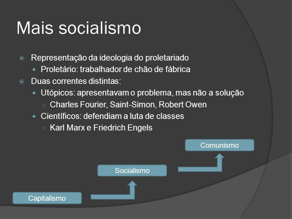 Mais socialismo Representação da ideologia do proletariado
