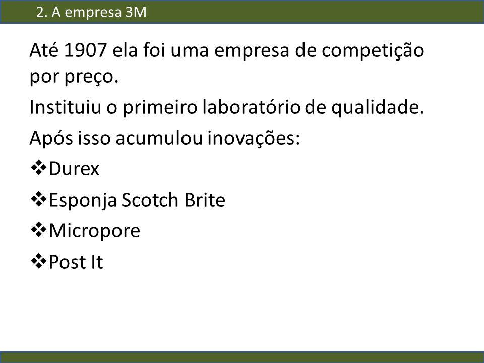 Até 1907 ela foi uma empresa de competição por preço.