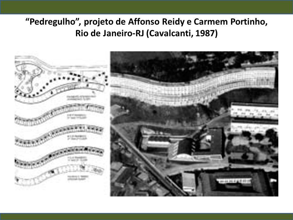 Pedregulho , projeto de Affonso Reidy e Carmem Portinho, Rio de Janeiro-RJ (Cavalcanti, 1987)