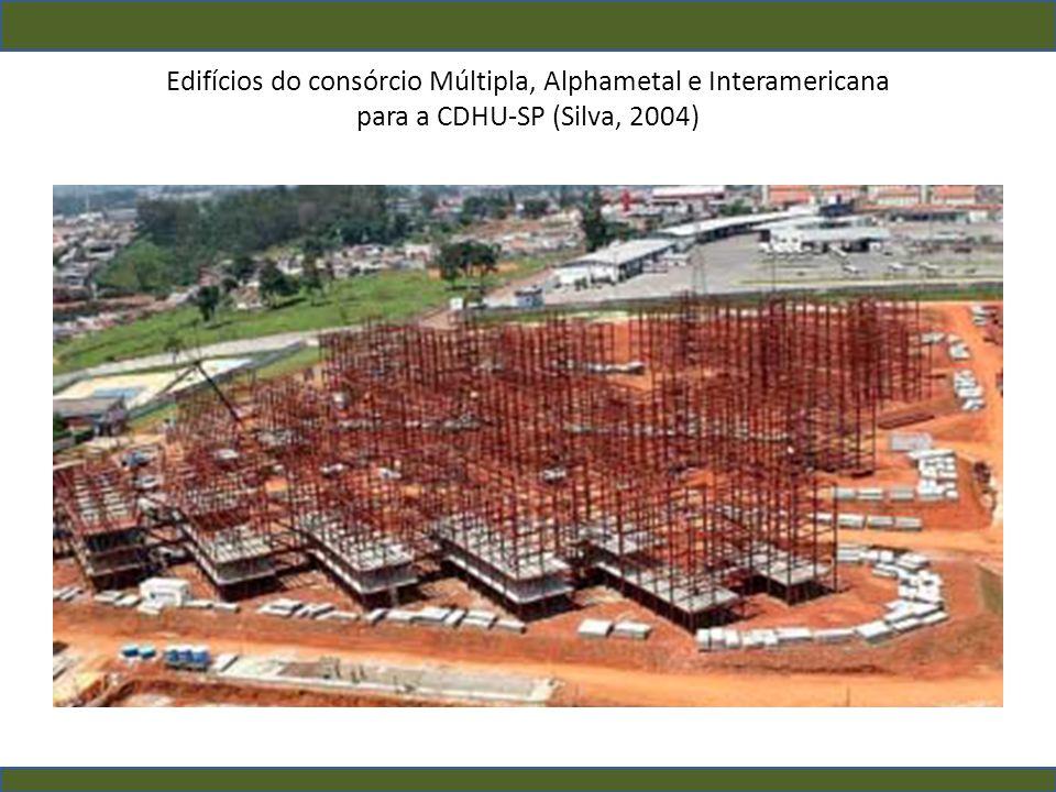 Edifícios do consórcio Múltipla, Alphametal e Interamericana para a CDHU-SP (Silva, 2004)