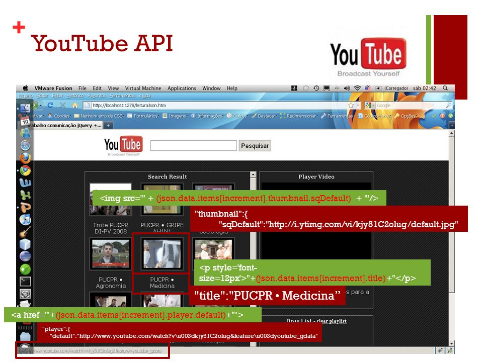 YouTube API title : PUCPR • Medicina