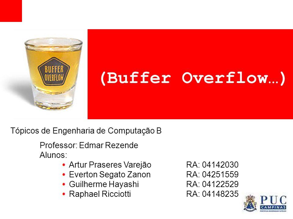 (Buffer Overflow…) Tópicos de Engenharia de Computação B