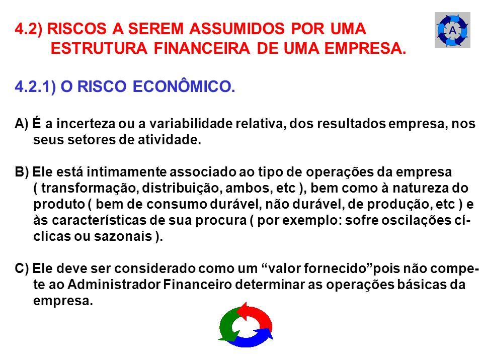 4.2) RISCOS A SEREM ASSUMIDOS POR UMA