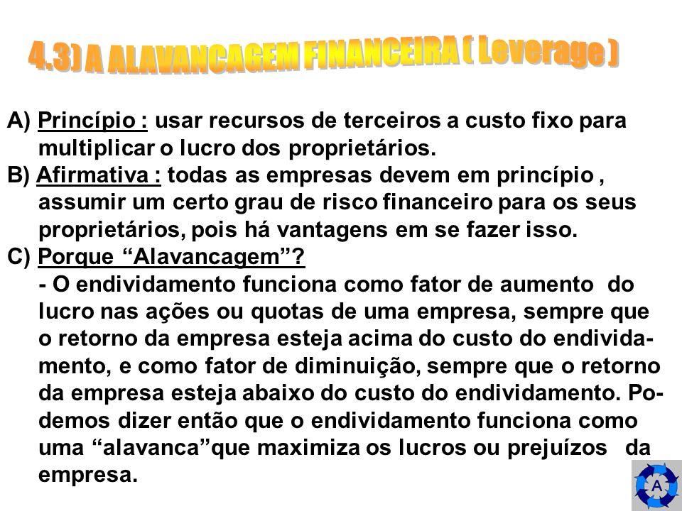 4.3) A ALAVANCAGEM FINANCEIRA ( Leverage )