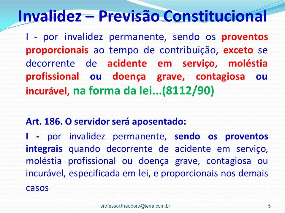 Invalidez – Previsão Constitucional