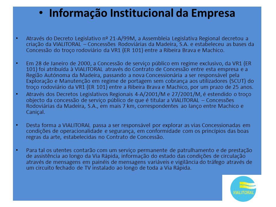 Informação Institucional da Empresa