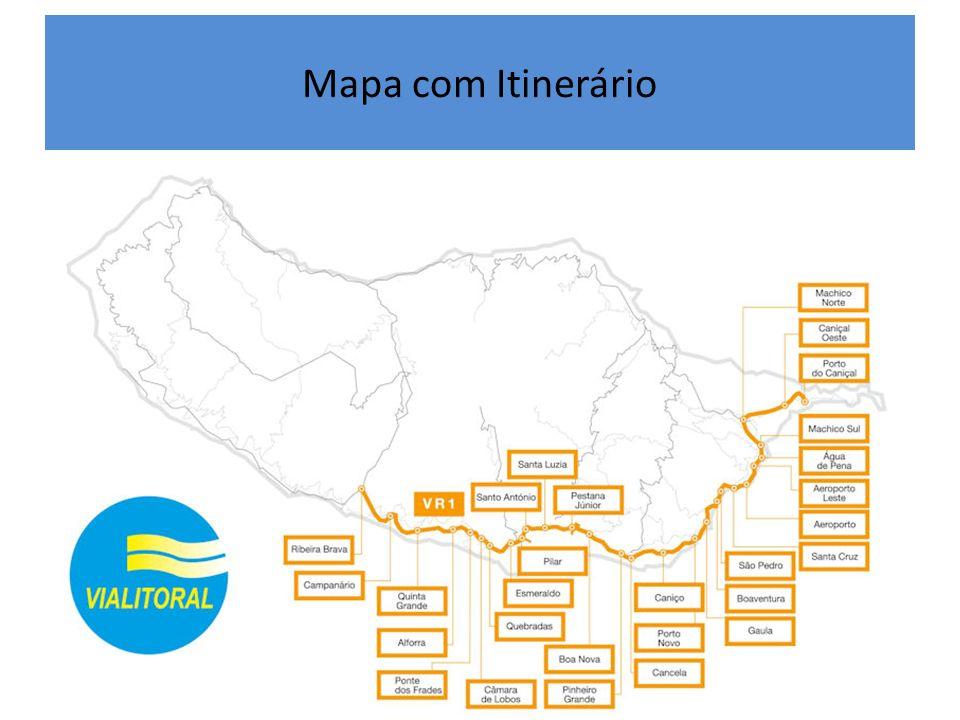 Mapa com Itinerário