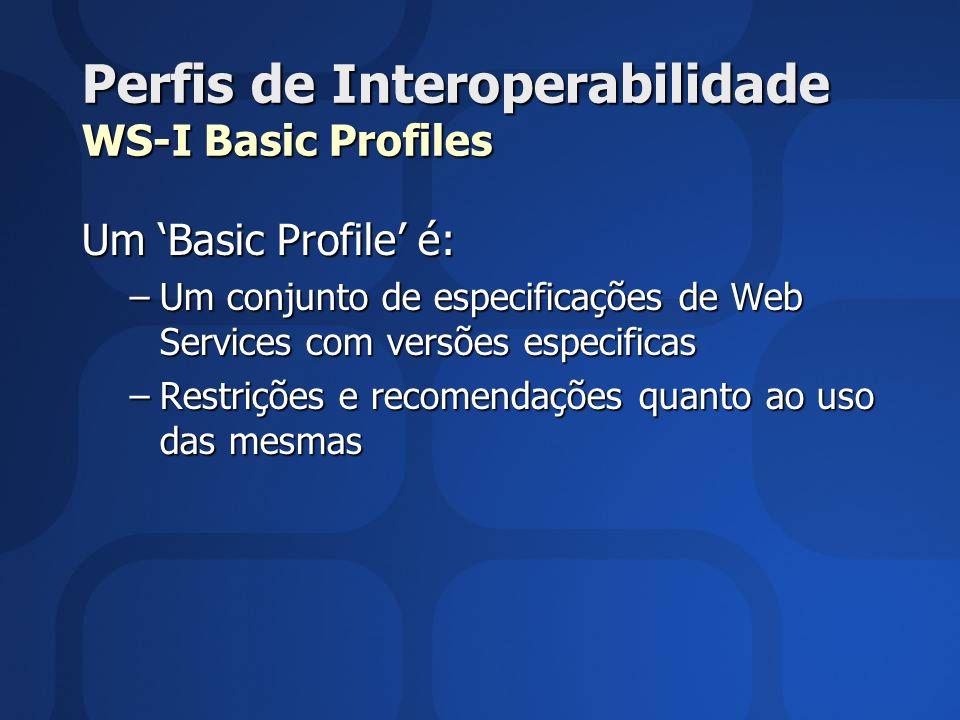 Perfis de Interoperabilidade WS-I Basic Profiles