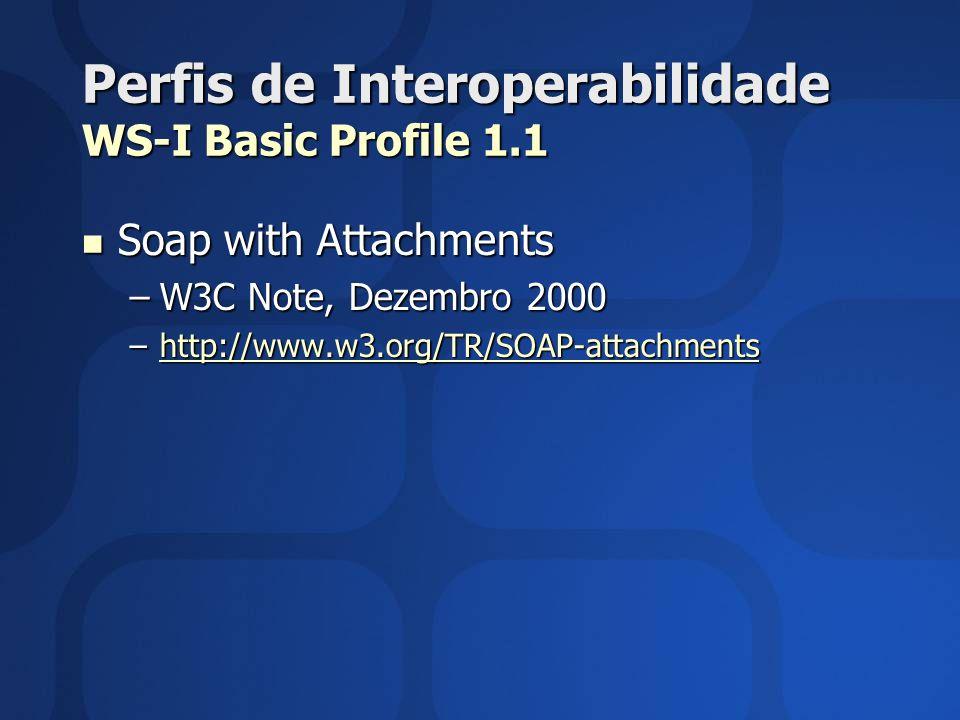Perfis de Interoperabilidade WS-I Basic Profile 1.1