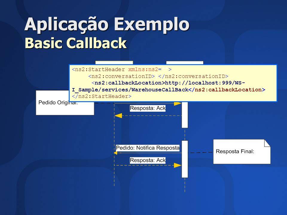 Aplicação Exemplo Basic Callback