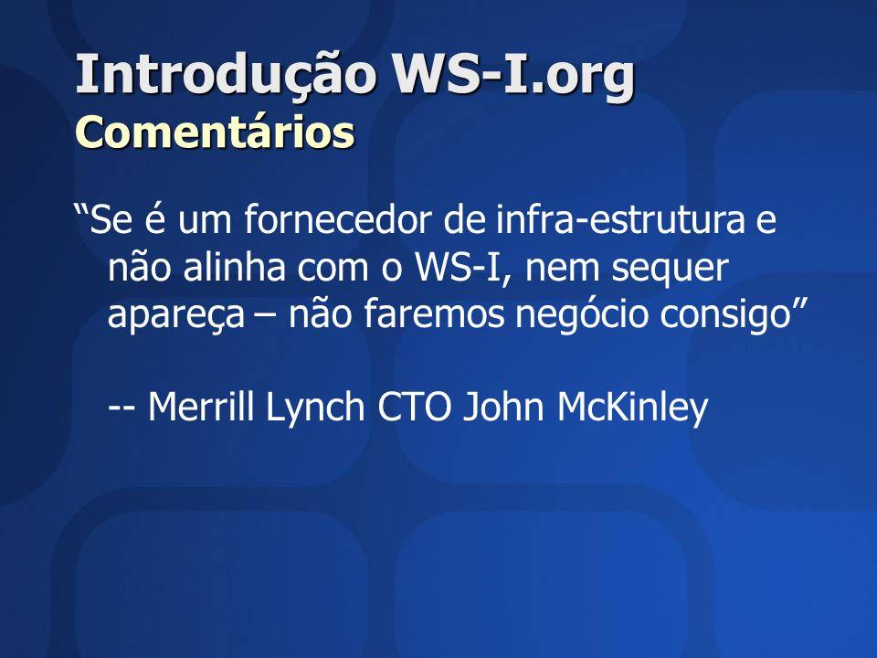 Introdução WS-I.org Comentários