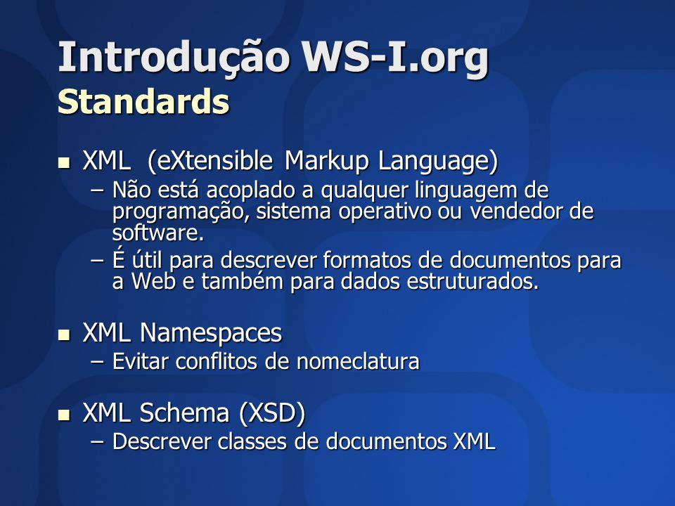 Introdução WS-I.org Standards