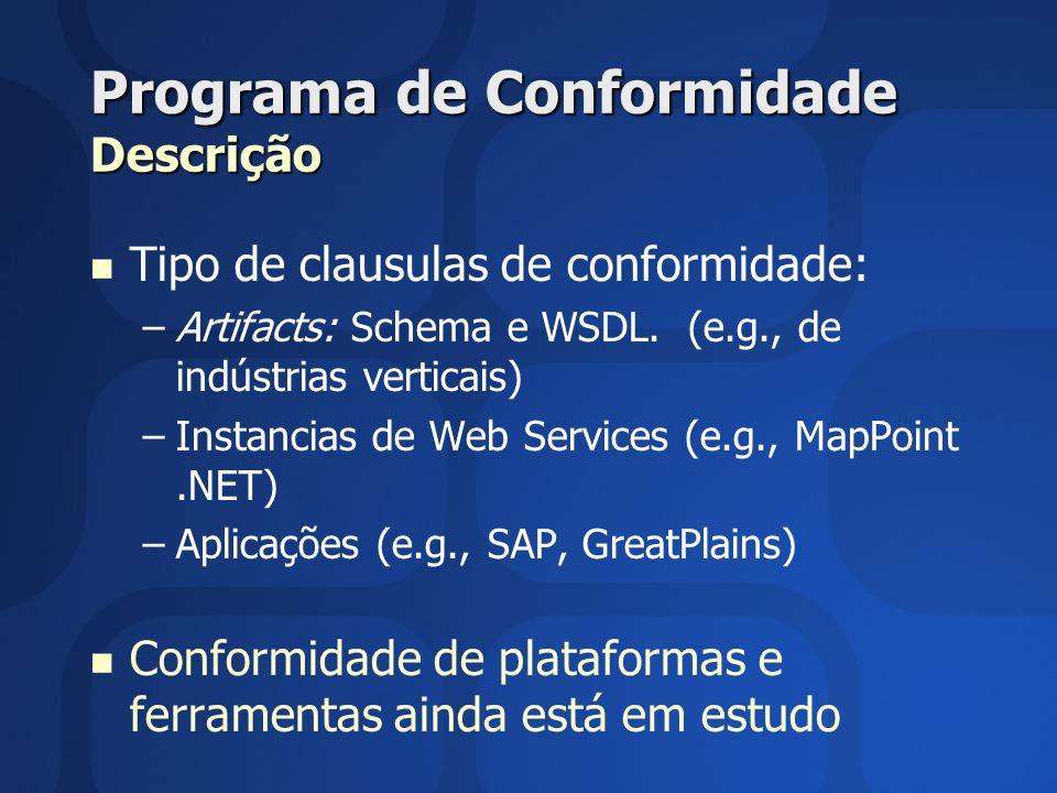 Programa de Conformidade Descrição