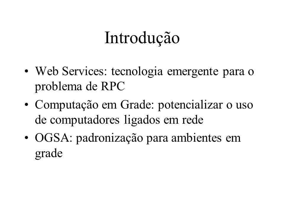 Introdução Web Services: tecnologia emergente para o problema de RPC